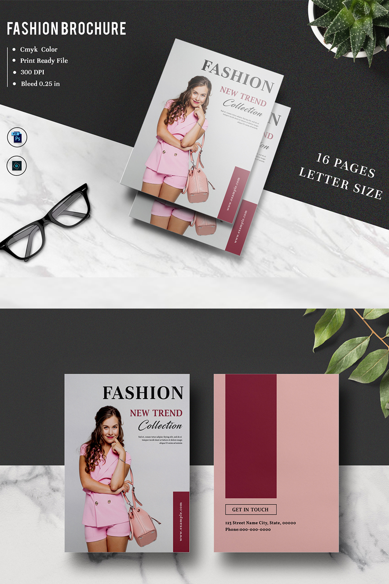"""Unternehmensidentität Vorlage namens """"Sistec Fashion Lookbook Magazine"""" #88487"""