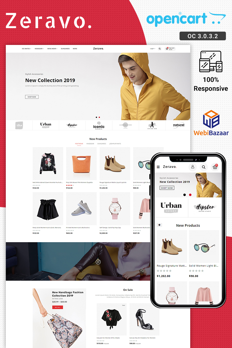 Zeravo Fashion Responsive OpenCart Template - screenshot
