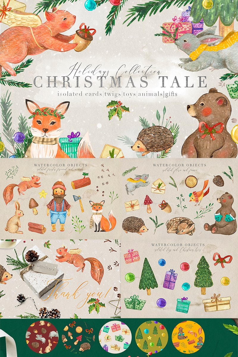 """""""Christmas Tale Graphic Collection"""" Illustration №88572"""