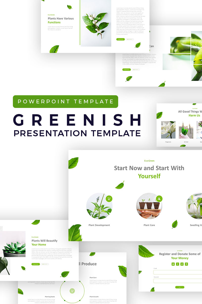 Clean Greenish Presentation PowerPoint Template