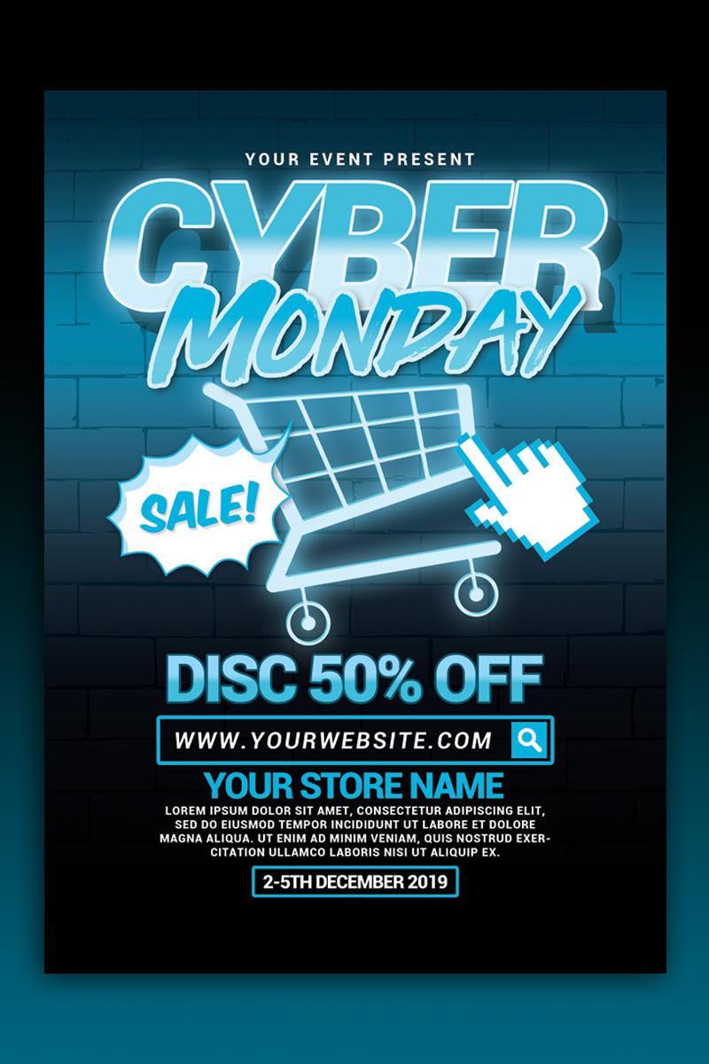 Cyber Monday Sale Flyer Márkastílus sablon 88576