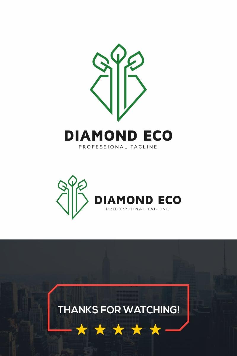 Diamond Eco Logo Template - screenshot