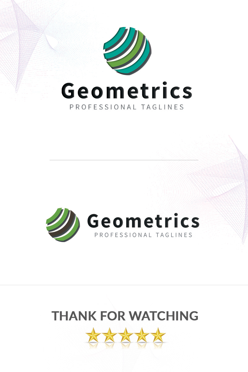 Geometrics Logo Template - screenshot