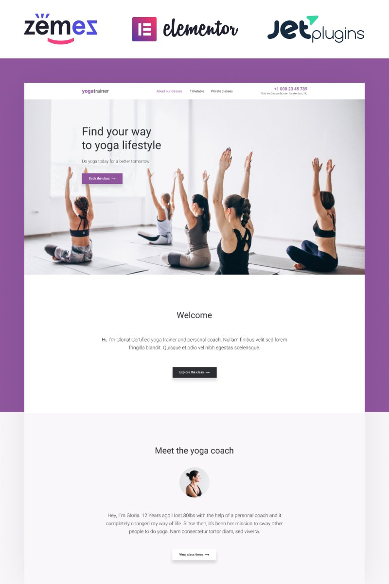 Gloria Miles - Innovative and Fashionable Yoga WordPress Theme