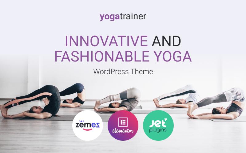 """Gloria Miles - Innovative and Fashionable Yoga"" 响应式WordPress模板 #88511"