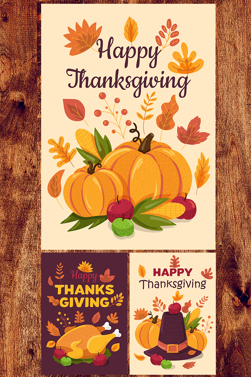 """Happy Thanksgiving Day Banners Set"" Illustration №88563 - screenshot"