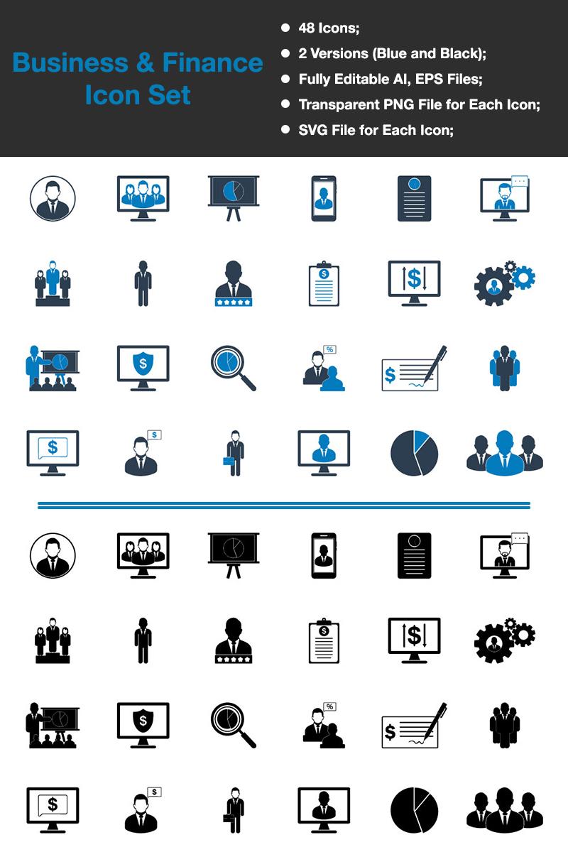 """Icon-Sammlungen Vorlage namens """"Business & Finance - Premium Vector"""" #88534"""