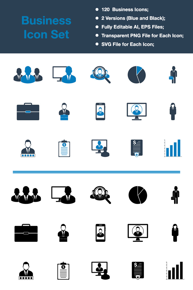 "Icon-Sammlungen Vorlage namens ""Business & Finance - Premium Vector"" #88541 - Screenshot"