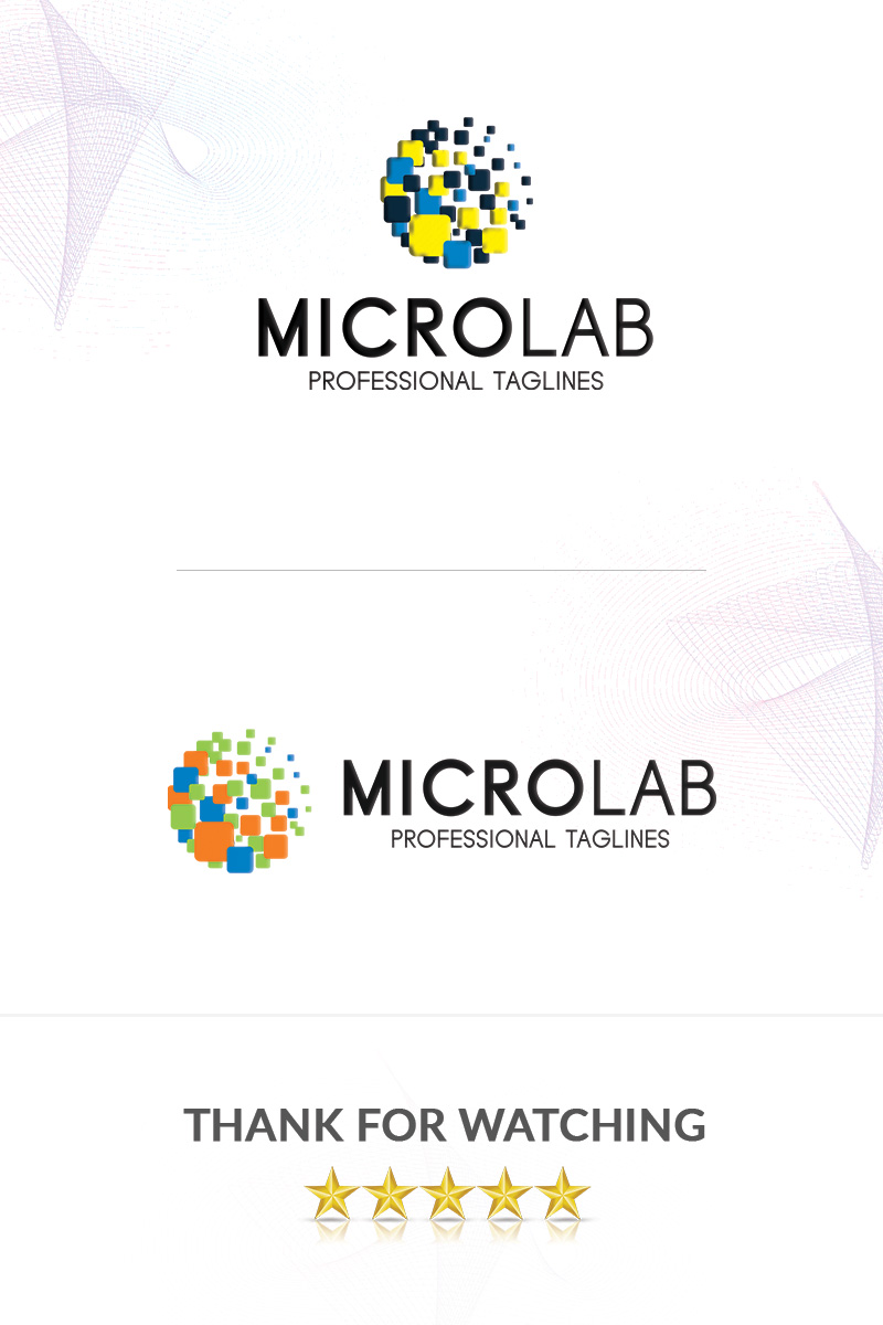 MicroLab Logo Template - screenshot