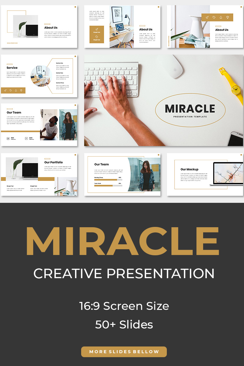Miracle Creative Template PowerPoint №88542