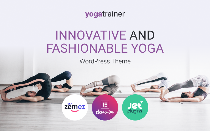 "Modello WordPress Responsive #88511 ""Gloria Miles - Innovative and Fashionable Yoga"""