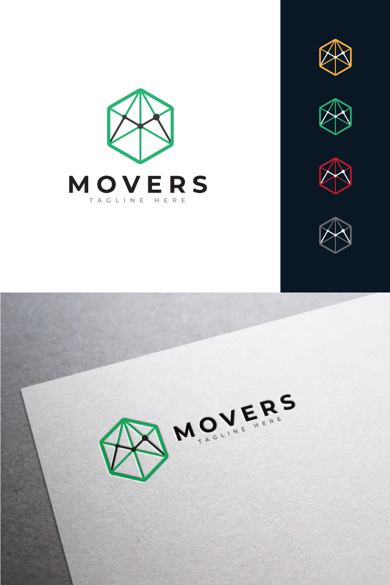 Movers Logo Template - screenshot