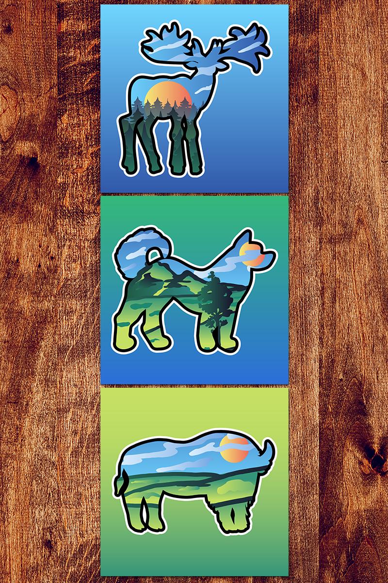 """Nature Scenery In Animals"" Illustration №88570"