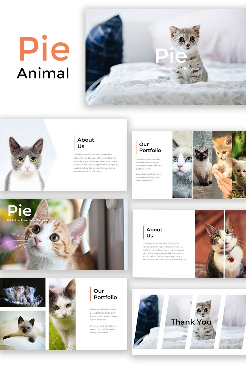 Pie - Cat Animal PowerPoint Template - screenshot