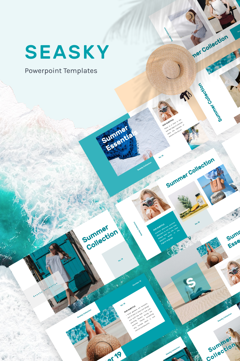 SEASKY PowerPoint Template - screenshot
