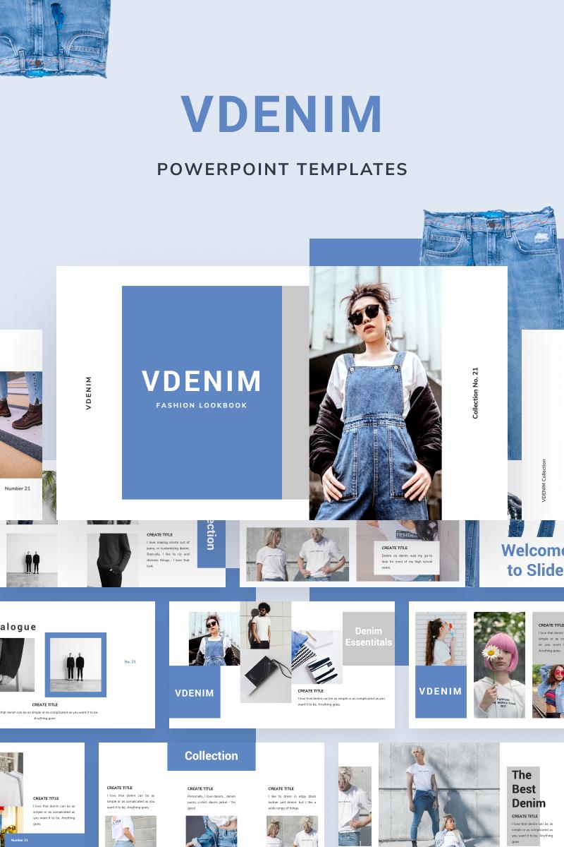 """""""VDENIM"""" PowerPoint 模板 #88551"""
