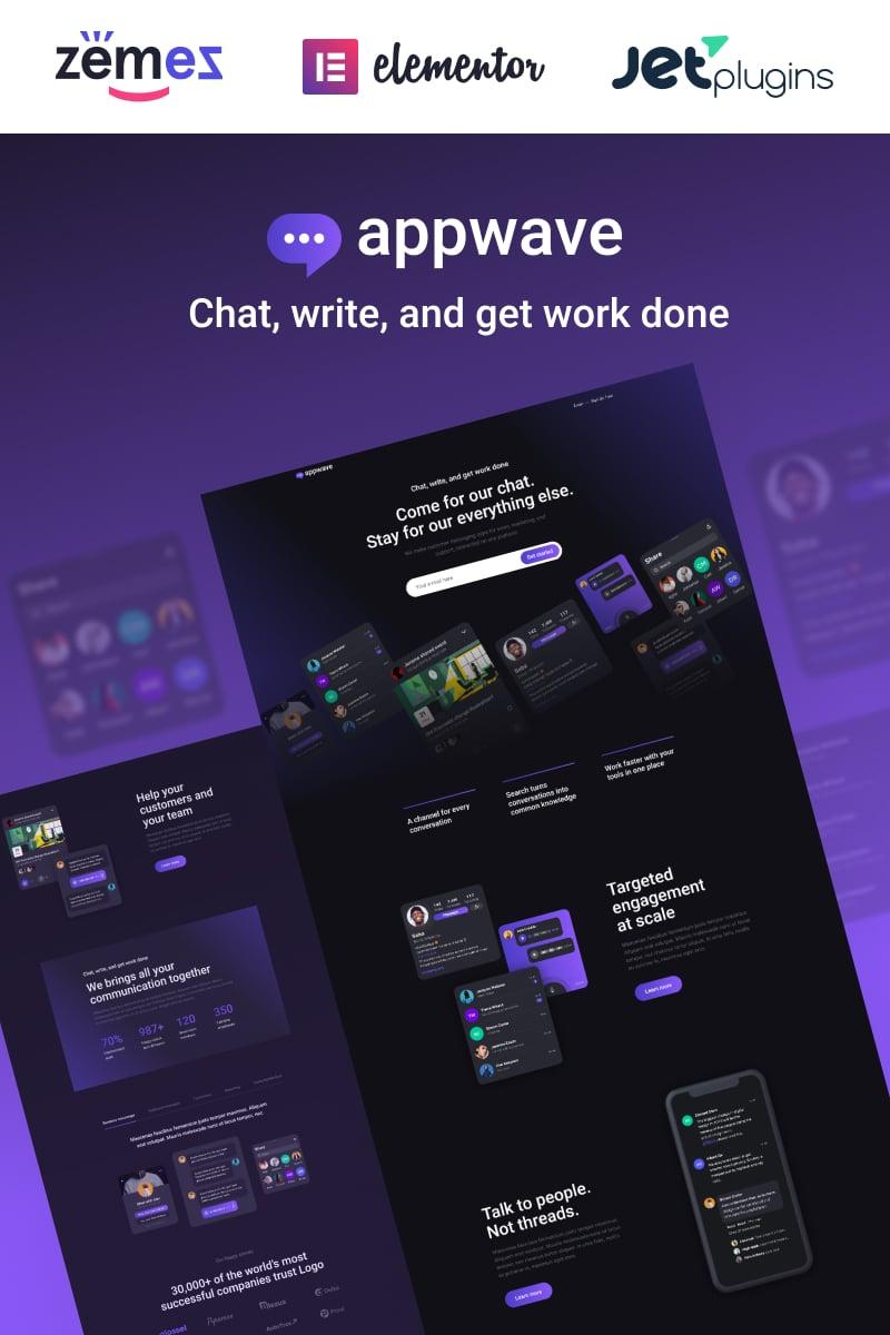 Appwave - Innovative and Stylish App Landing Page WordPress Theme