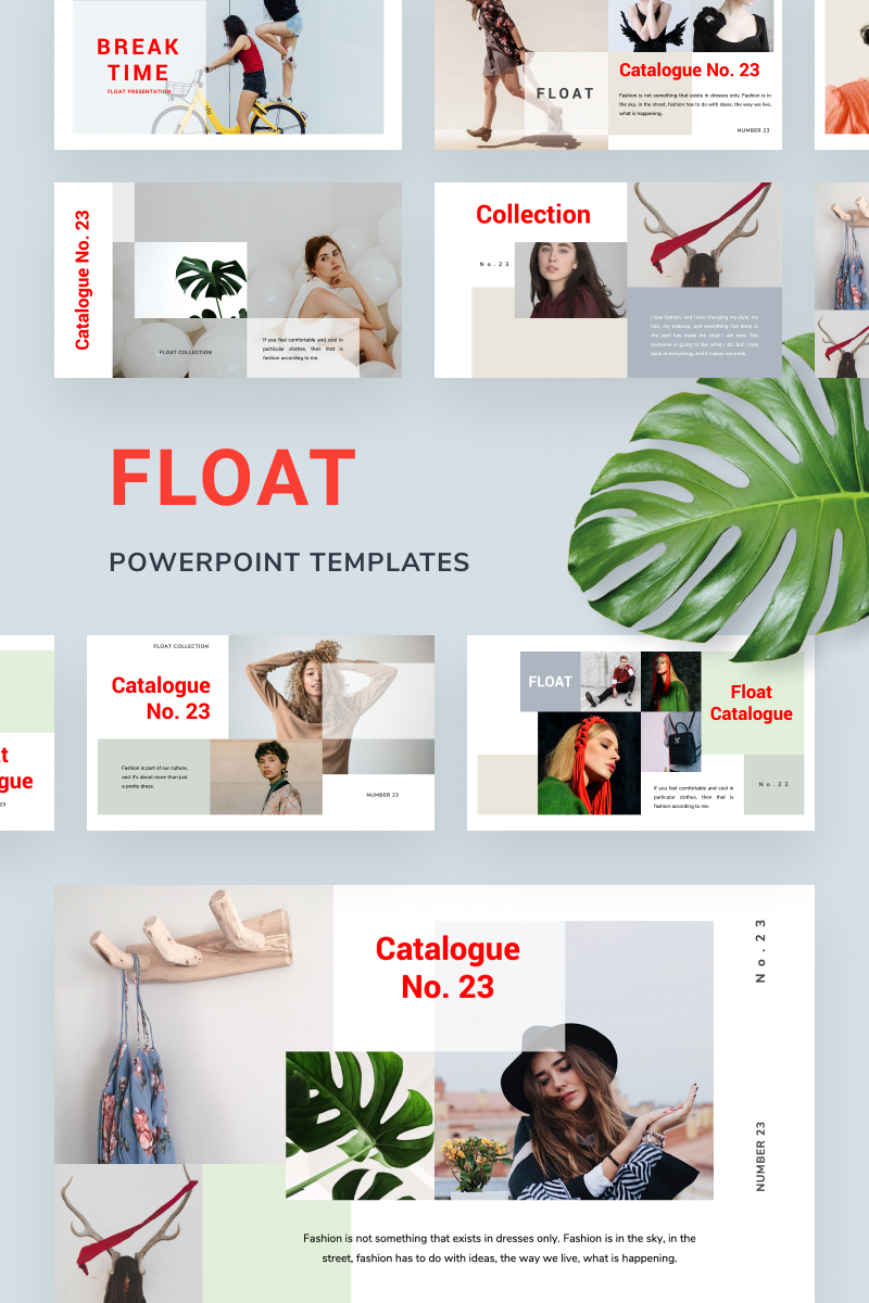 """FLOAT"" modèle PowerPoint  #88610"