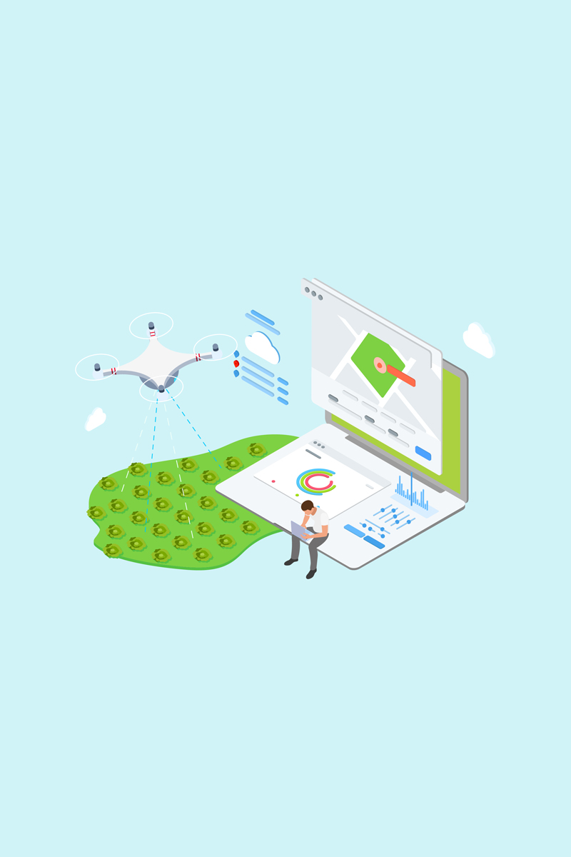 """IOT Drone Watering Isometric 4 - TU"" Illustration №88619 - screenshot"