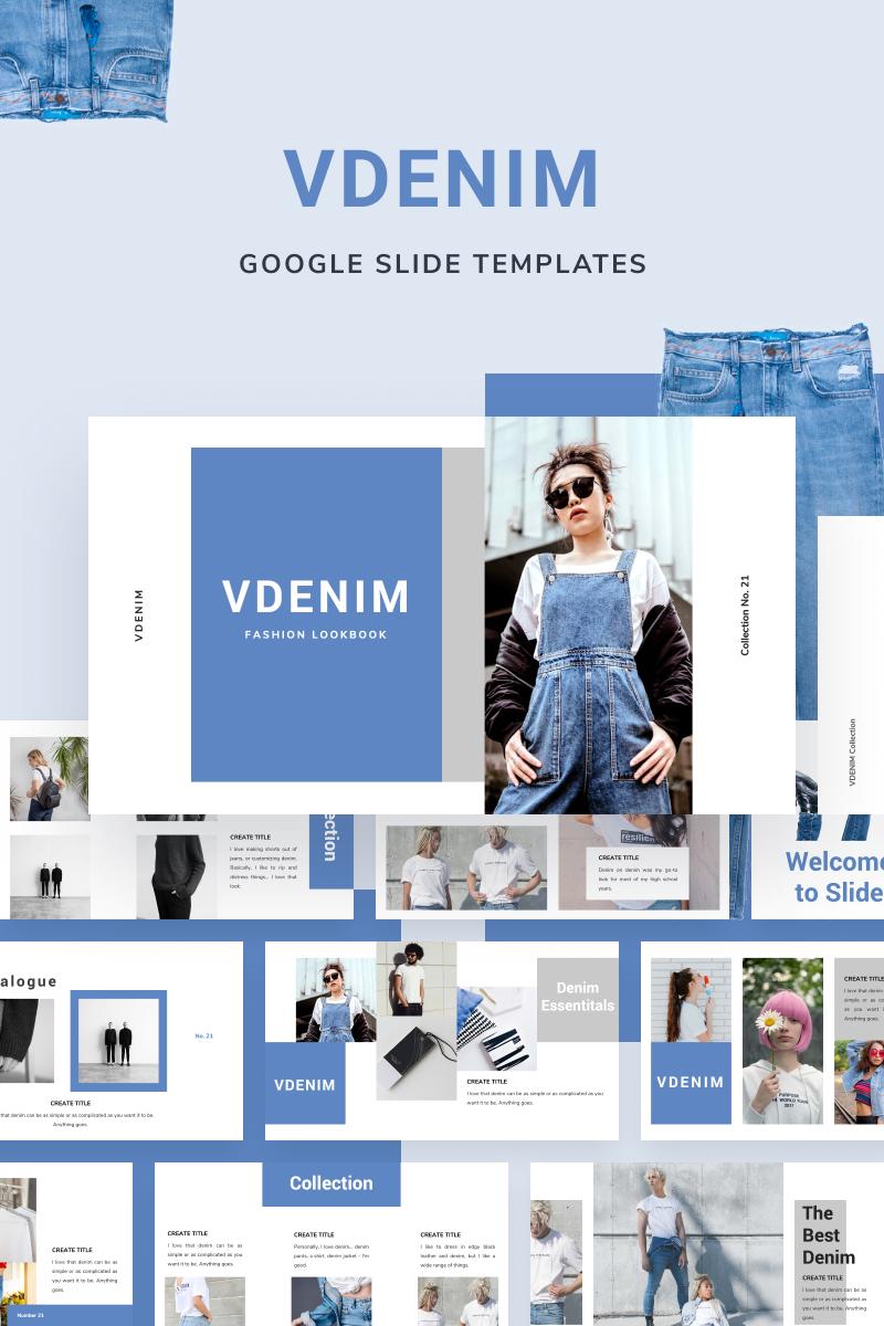 """Modello Google Slides #88652 """"VDENIM"""""""