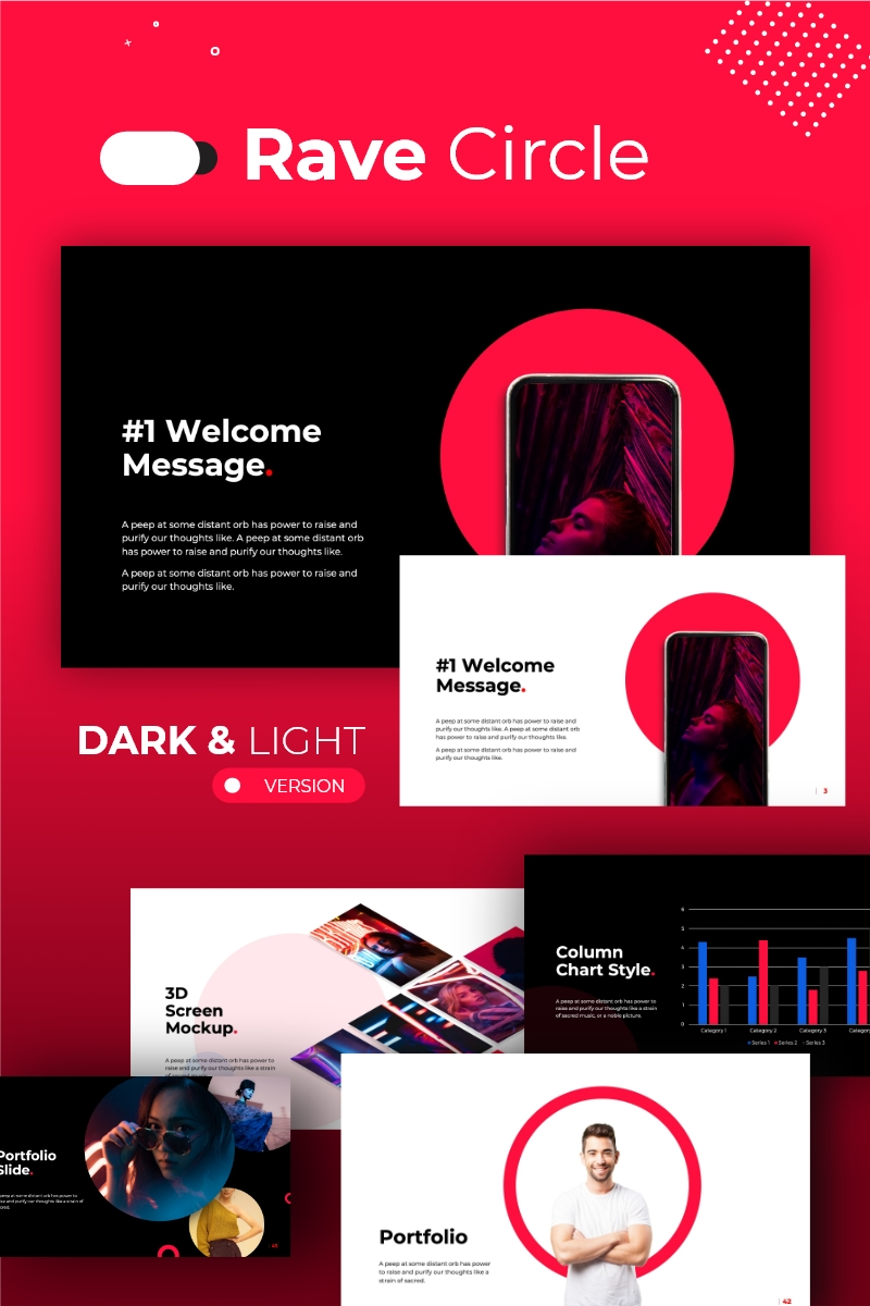 Rave Circle Template PowerPoint №88611