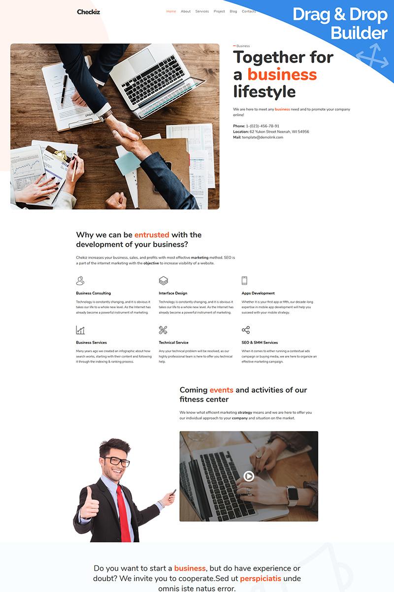 Responsywny szablon Moto CMS 3 Checkiz - Business Marketing #88617