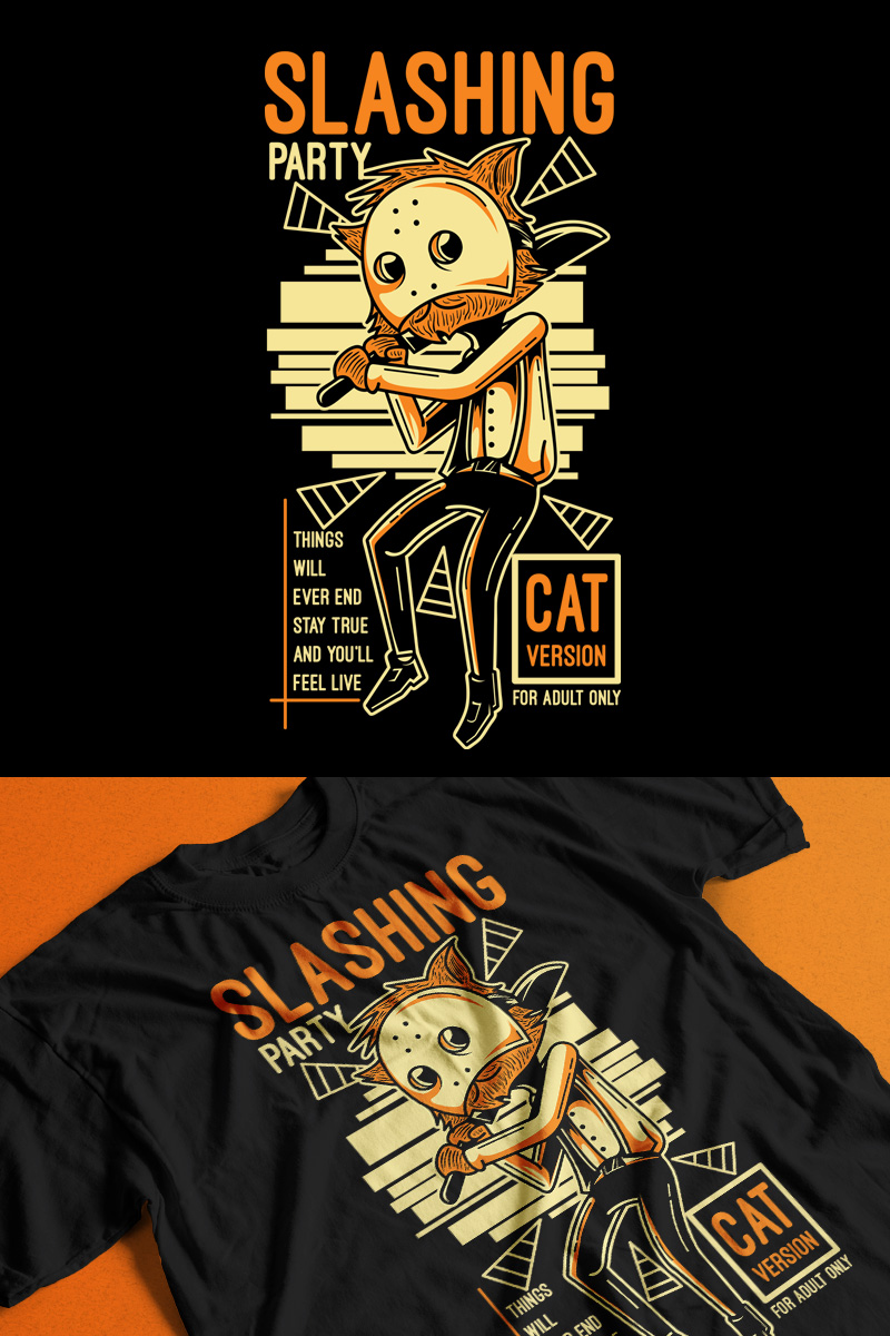 Slashing Party 4 T-shirt