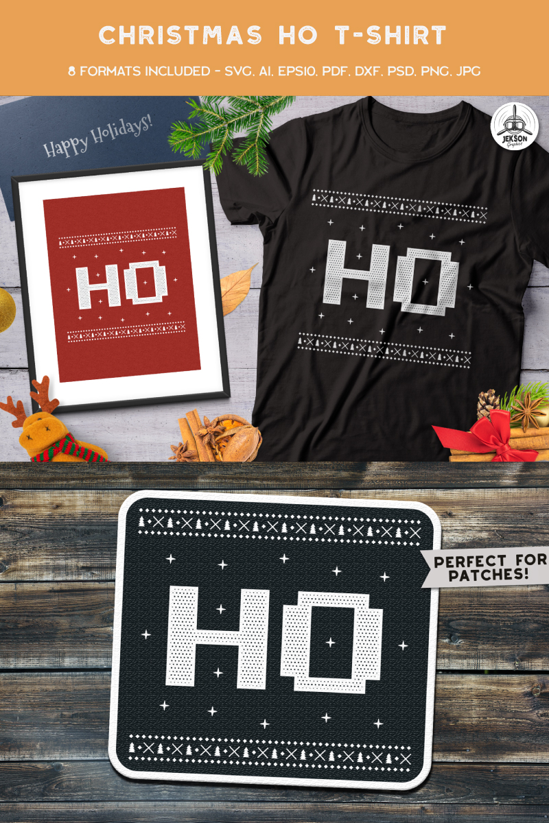 "T-shirt ""Christmas Ho"" #88669"