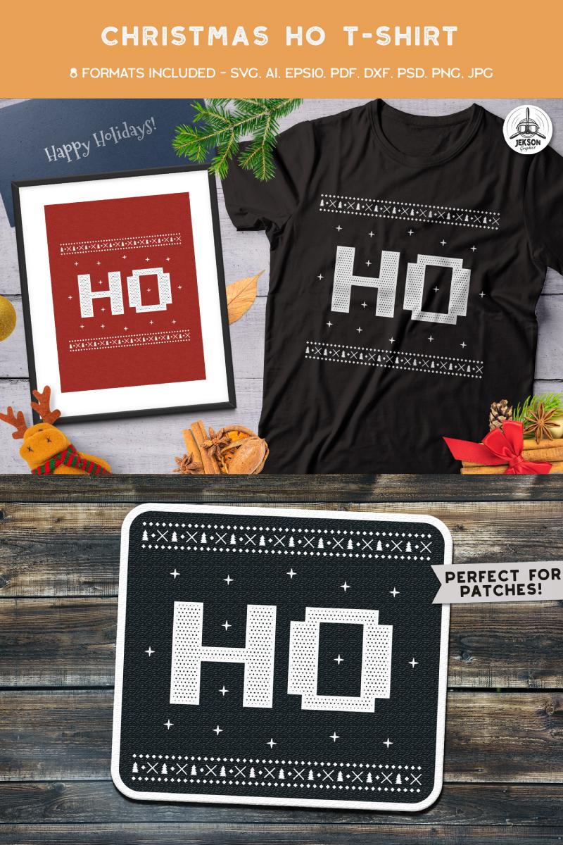 "T-shirt namens ""Christmas Ho"" #88669"