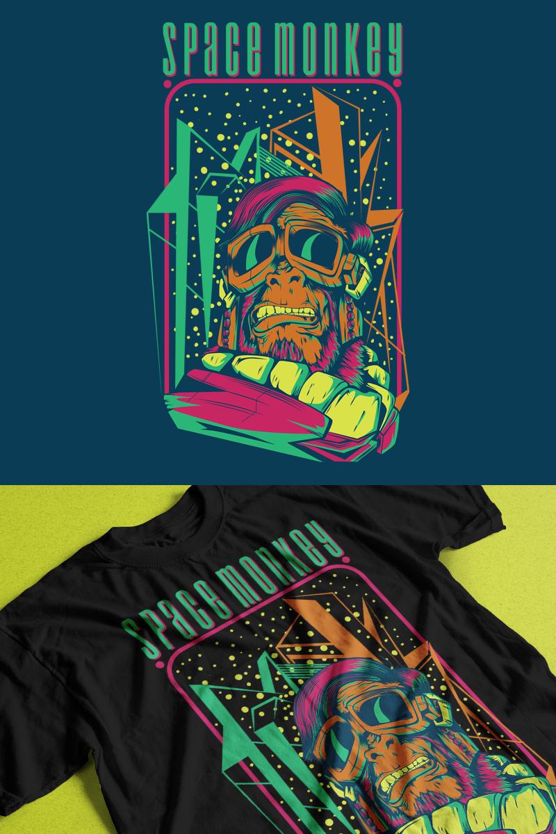 "T-shirt namens ""Space Monkey"" #88666"