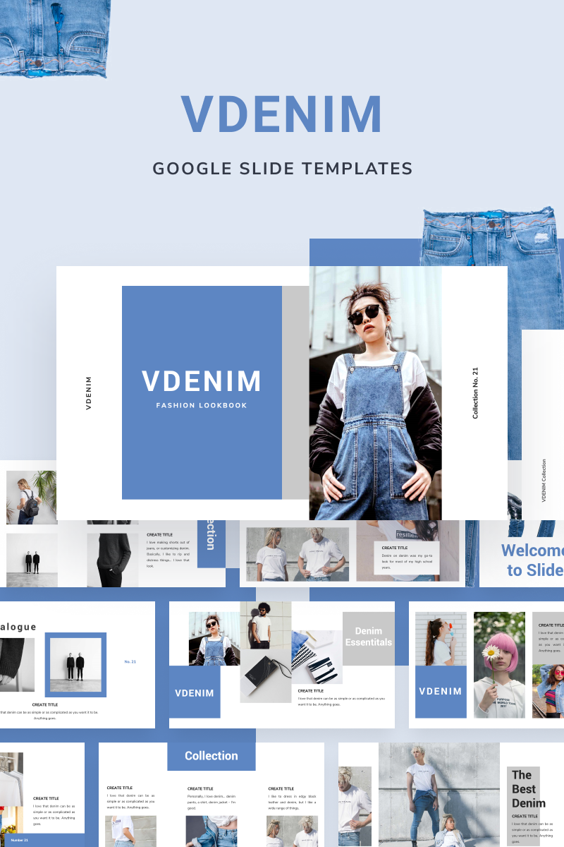 """VDENIM"" google Slides  #88652"