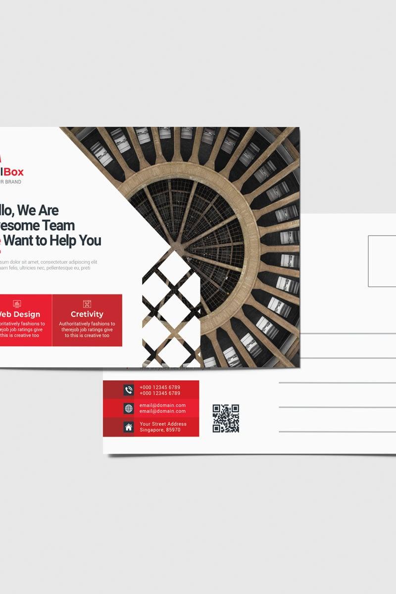 """Unternehmensidentität Vorlage namens """"Mailbox Postcard Vol_ 2"""" #88750"""