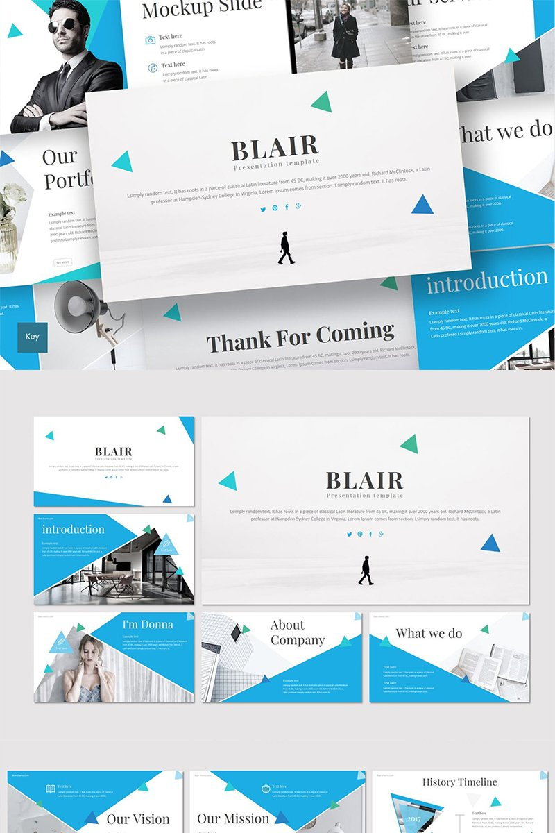Blair Keynote Template #88844 - skärmbild