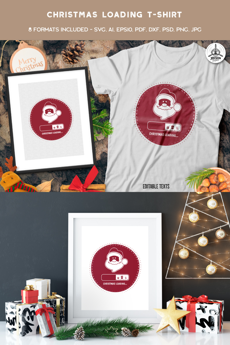 Christmas Loading T-shirt 88849