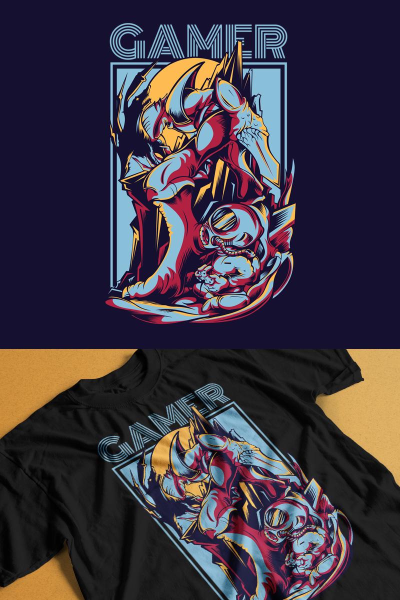 Gamer T-shirt №88860