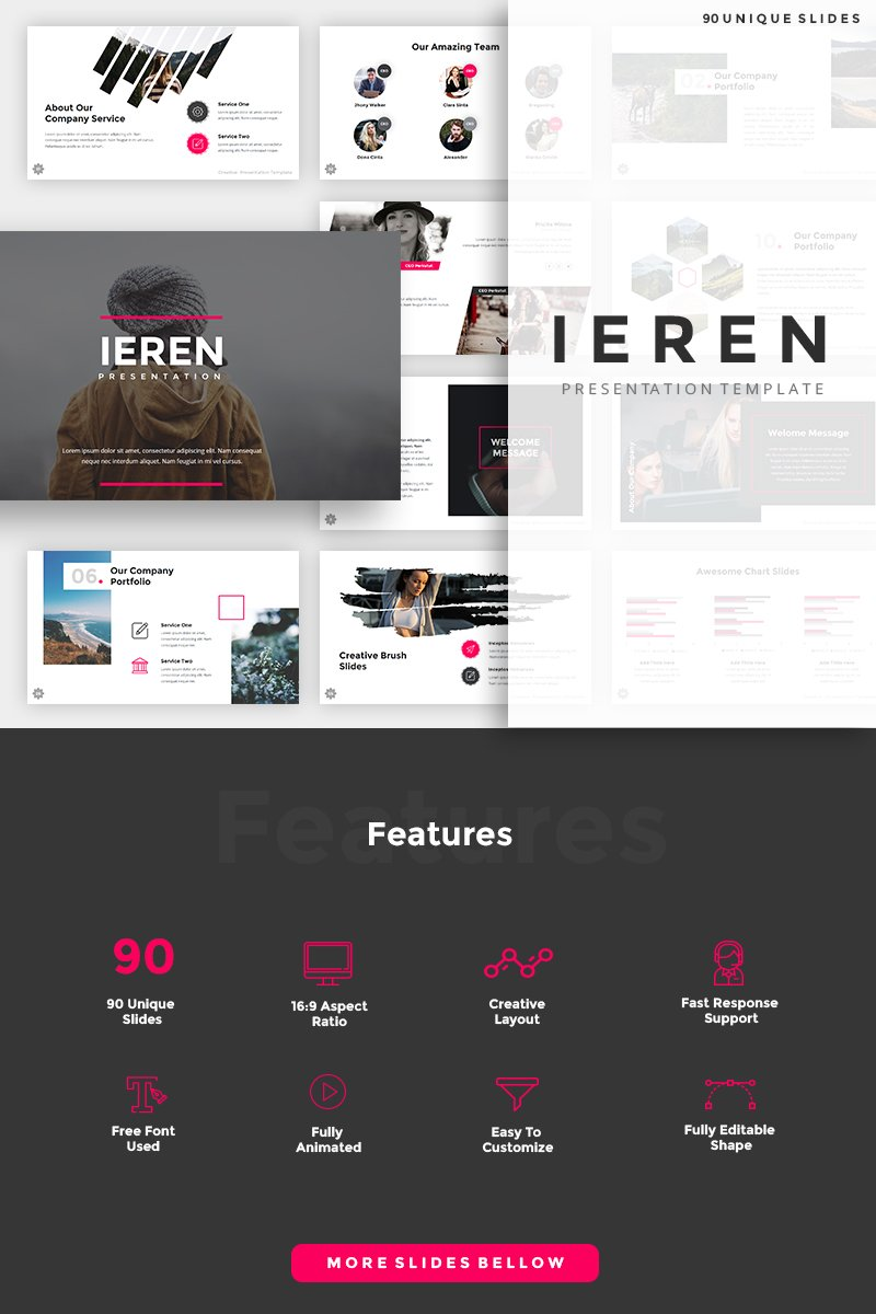 """Ieren Creative"" - PowerPoint шаблон №88804"