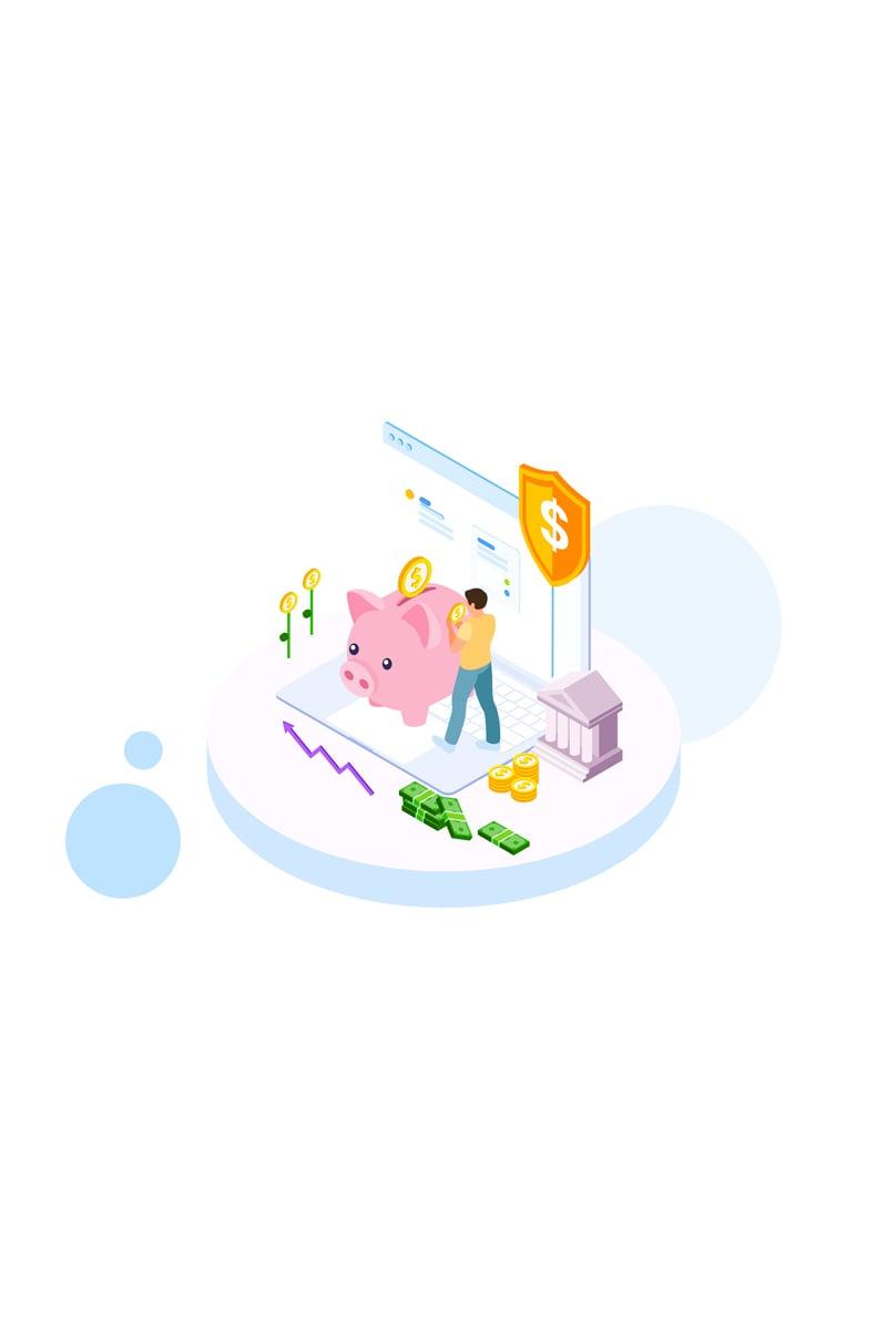 "Ilustrace ""Saving money 3"" #88816"