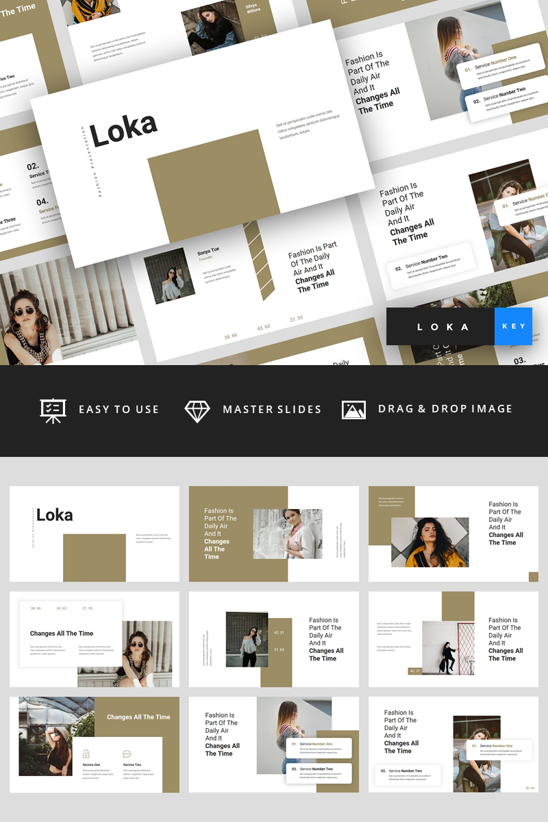 Loka - Fashion Presentation Keynote Template #88845