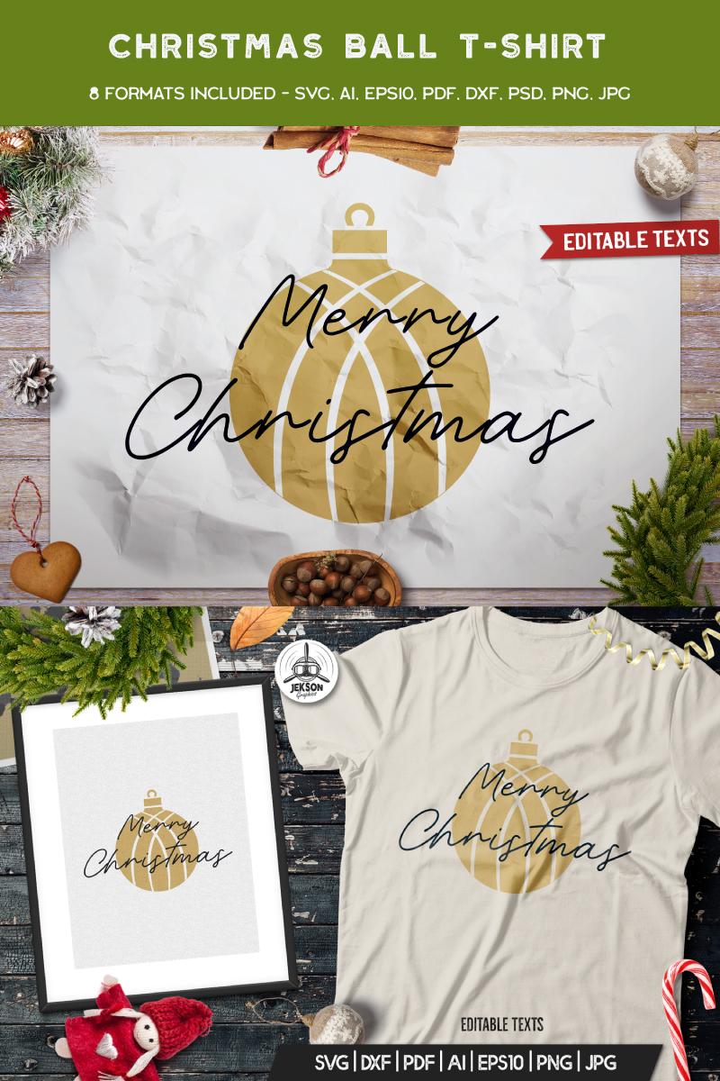 """Merry Christmas Ball"" T-shirt №88855"