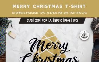 Merry Christmas Tree - T-shirt Design