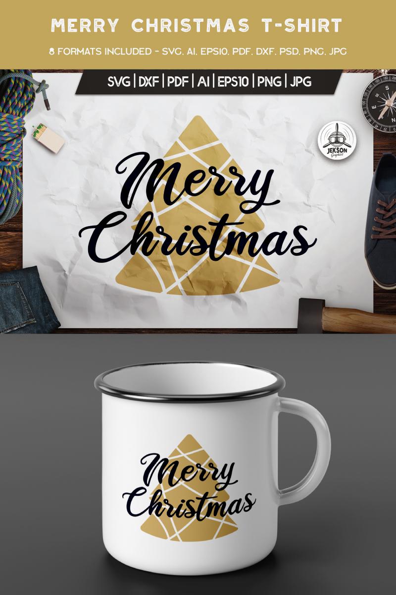"""Merry Christmas Tree"" T-shirt №88857"