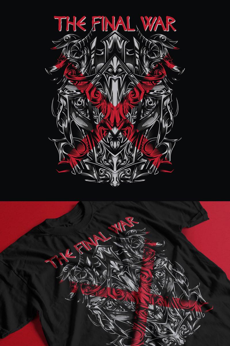 """Modello T-shirt #88865 """"The Final War"""""""