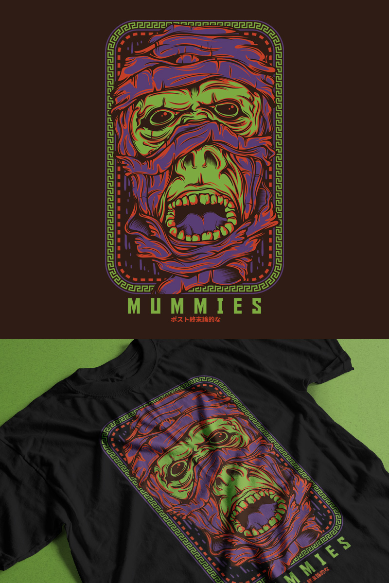 """Mummies"" T-shirt №88856"