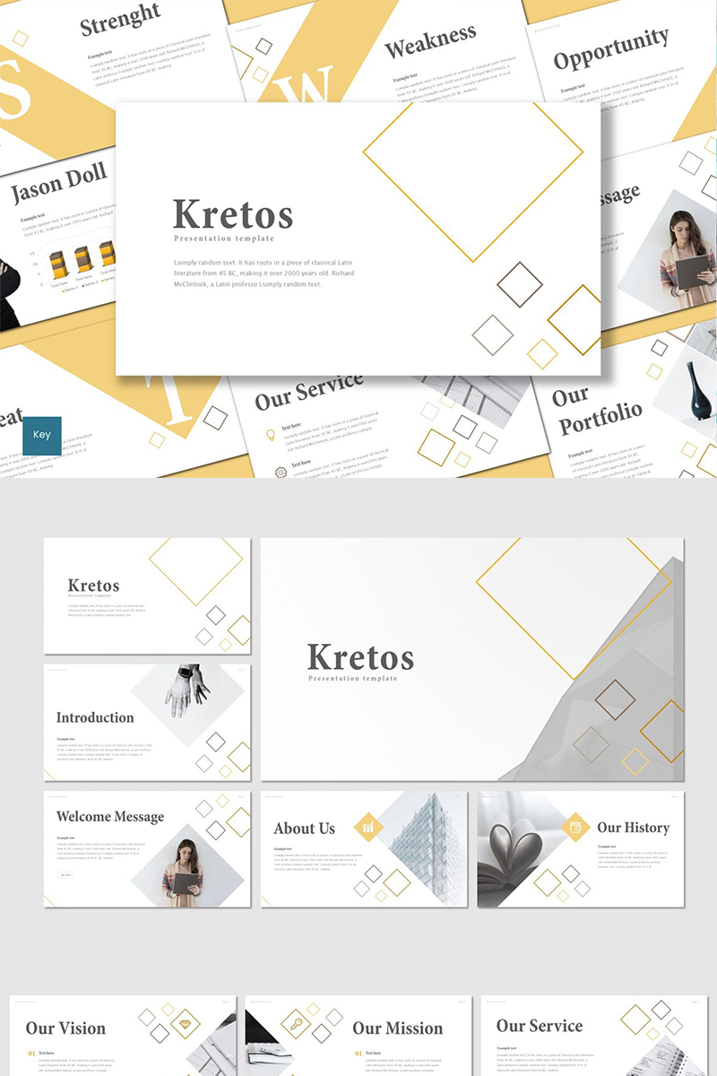 "Plantilla Keynote ""Kretos"" #88835 - captura de pantalla"