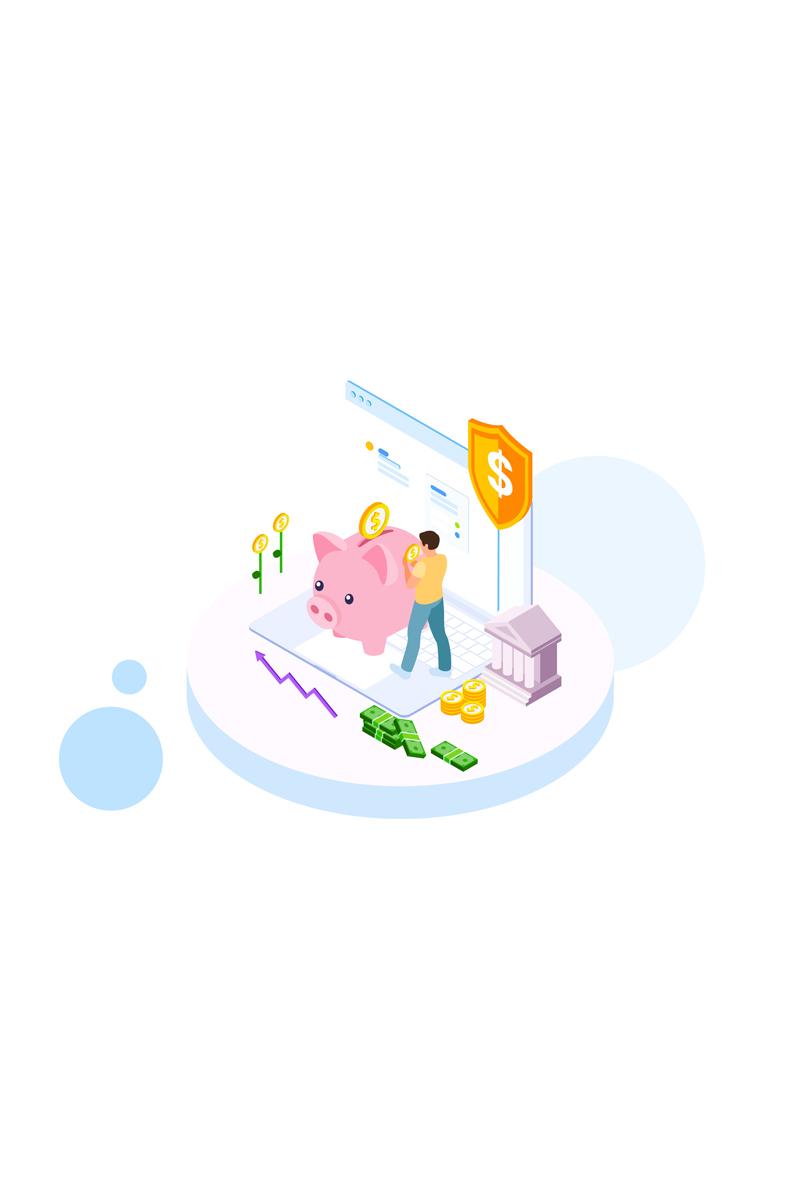Saving money 3 Illustration