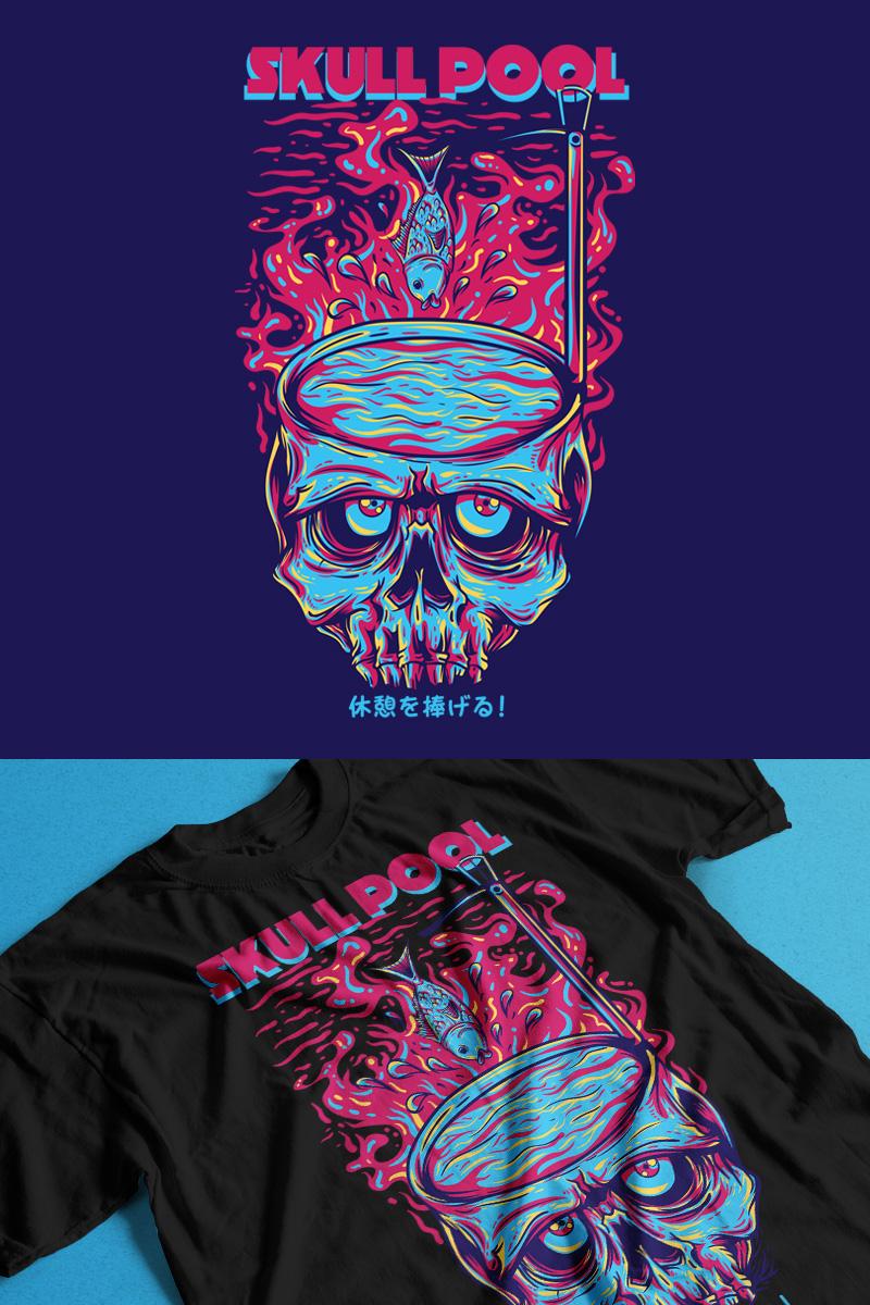 "Template T-shirt #88864 ""Skull Pool"""