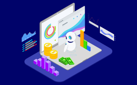 Analysis in Financial with AI Isometric 2 - T2 Illustration