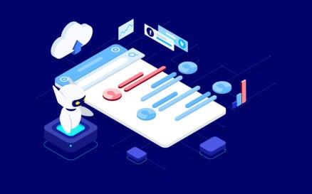 ChatBot Platform Works with AI Isometric - T2 Illustration