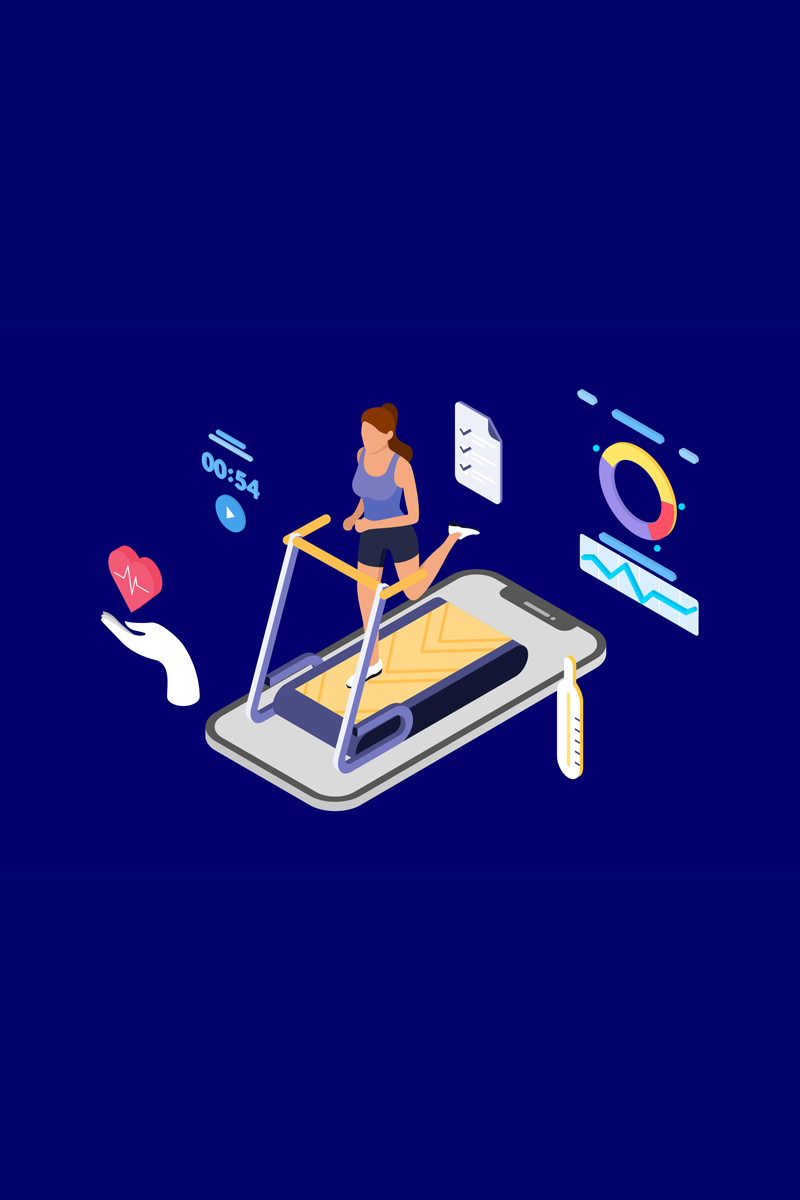 ARVR Exercise And Sport 2 Illustration
