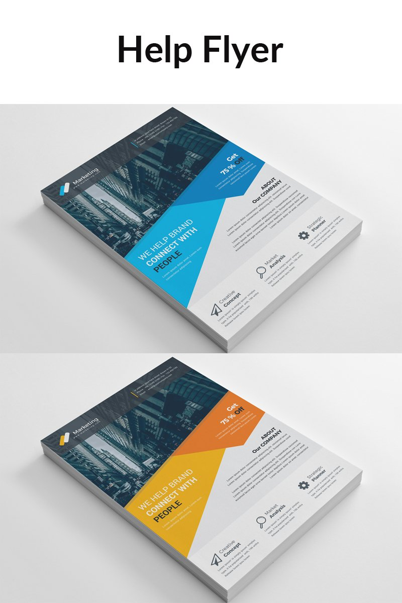 Blue Matt Color Business Flyer Corporate identity-mall #88909